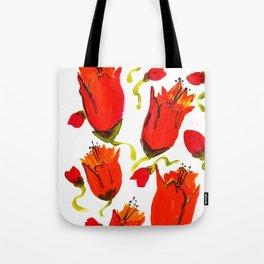 Orange n Red closed flowers Tote Bag