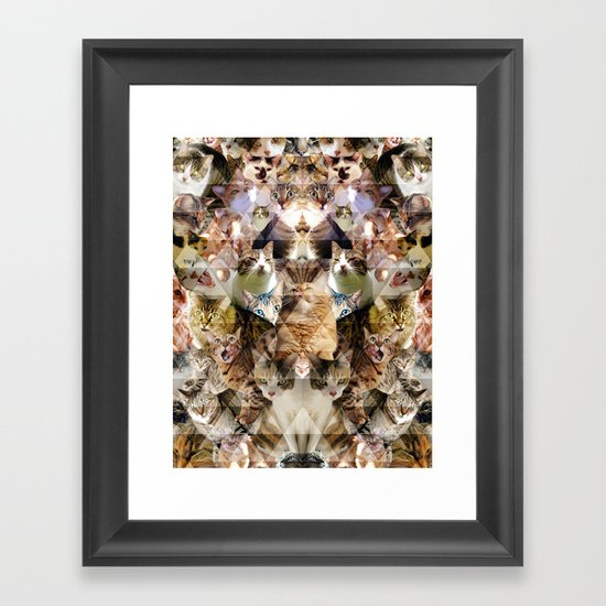 Cat Kaleidoscope Framed Art Print