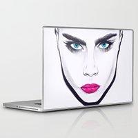 cara delevingne Laptop & iPad Skins featuring Cara Delevingne  by Camila Mariel