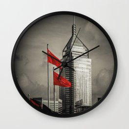 Red flags Tower Wall Clock