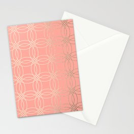 Simply Vintage Link in White Gold Sands and Salmon Pink Stationery Cards