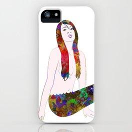 Golden Flower Mermaid iPhone Case