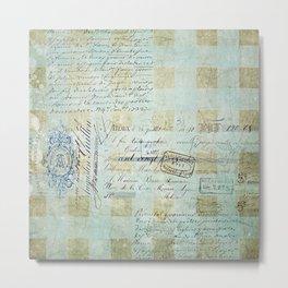 carnet de chèques Metal Print