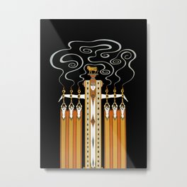 "Art Deco Design ""The Golden Calf"" by Erté Metal Print"