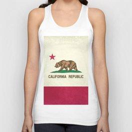 California Republic Flag Unisex Tank Top