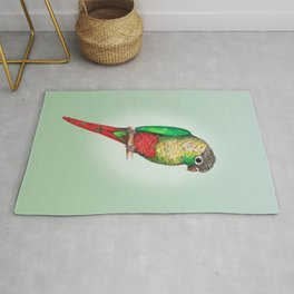 Conure with a heart on its belly Rug