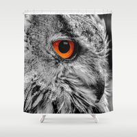 andreas preis Shower Curtains featuring ORANGE OF MY EYE by Catspaws