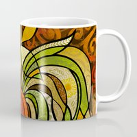 rooster Mugs featuring Rooster by Cat Thurman