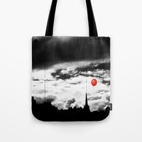 gotham Tote Bags featuring Gotham city by Anna Andretta