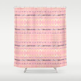 Pink Pattern Triangle Art Shower Curtain