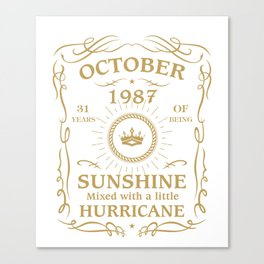 October 1987 Sunshine mixed Hurricane Canvas Print