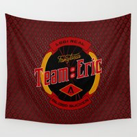 eric fan Wall Tapestries featuring Team Eric by Papercut Designs