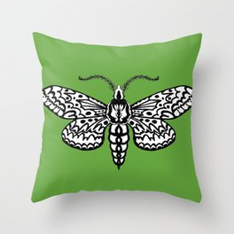 Sphinx Moth Throw Pillow