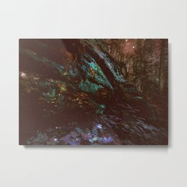 Forest Wall Dark Fairy Landscape Metal Print