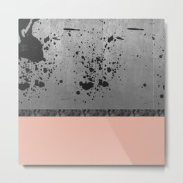 Concrete, Ink and Pink Metal Print