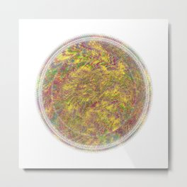 Magnetically Woven Mandala #3 Astronomy Print Science Art Wall Art Metal Print