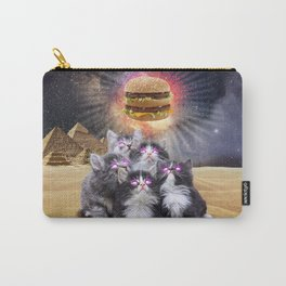space cats looking for the burger Carry-All Pouch