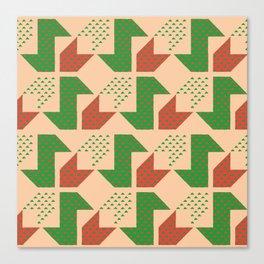 Clover&Nessie Lime/Orange Canvas Print