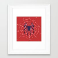 spider Framed Art Prints featuring Spider by Vickn