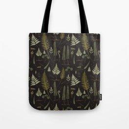 Fern pattern black Tote Bag