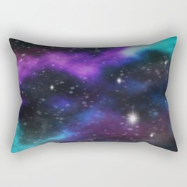 Galaxy Purple and Blue  Rectangular Pillow