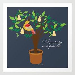 Partridge in the pear tree Art Print