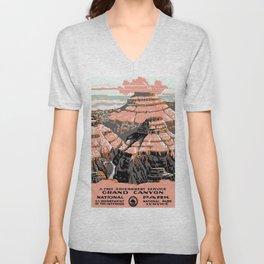 Vintage poster - Grand Canyon Unisex V-Neck