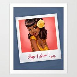 """Fiona"" Polaroid Pinup Art Print"