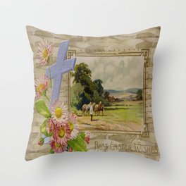 Best Easter Wishes from 1909 Throw Pillow