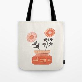 Floral vibes V Tote Bag