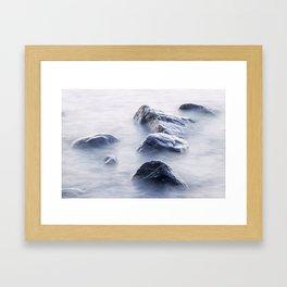 Lake Superior Boulders Framed Art Print
