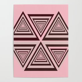 6 OP Triangles Millenial Pink Poster