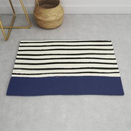 Navy x Stripes Rug