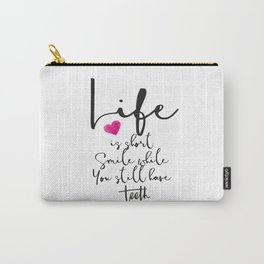 Funny Poster,Home Decor,Dorm Decor,Printable Art,Funny Quote,Inspirational Quote,Motivational Poster Carry-All Pouch