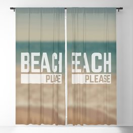Beach Please Funny Quote Blackout Curtain