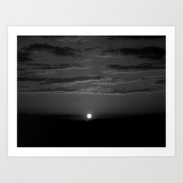 Monochrome Sunrise Art Print