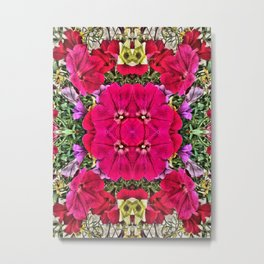 Flowers in miror Metal Print