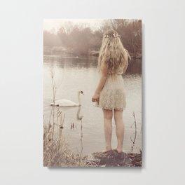 The swan fairy Metal Print