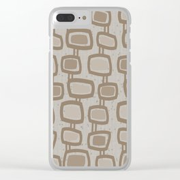 Dangling Rectangles in Brown Clear iPhone Case