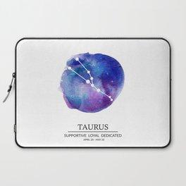 Taurus Watercolor Zodiac Constellation Laptop Sleeve