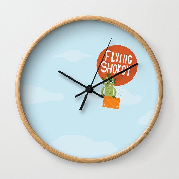 Flying Shokoy (Philippine Mythological Creatures Series #4) Wall Clock