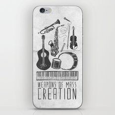 Weapons Of Mass Creation - Music (on paper) iPhone & iPod Skin