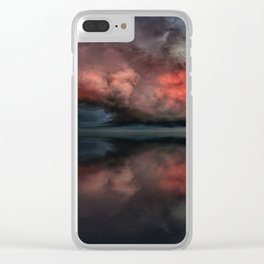 Red cloud reflect Clear iPhone Case