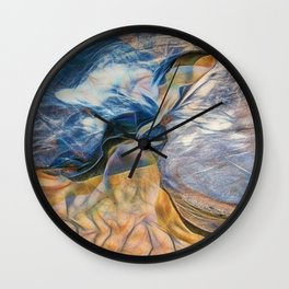 Abstract beautiful rocks on the sand Wall Clock