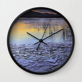 Frozen Browns Lake Wall Clock