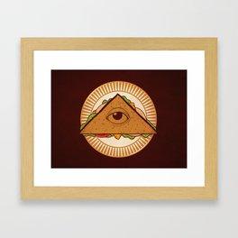 all seeing sandwich Framed Art Print