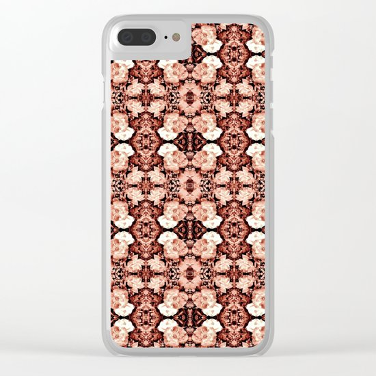 Old Rose Roses Seamless Pattern Clear iPhone Case