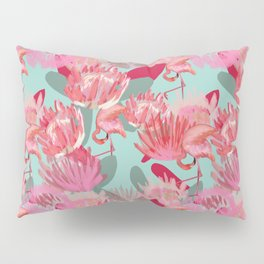 Flamingos and Proteas Pillow Sham