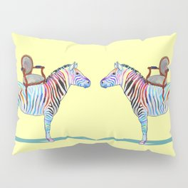 animals with chairs #4 Chair on a Zebra Pillow Sham