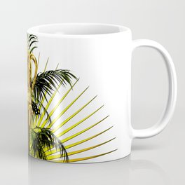 growing power, royal scepter with palm tree in front of aureole Coffee Mug
